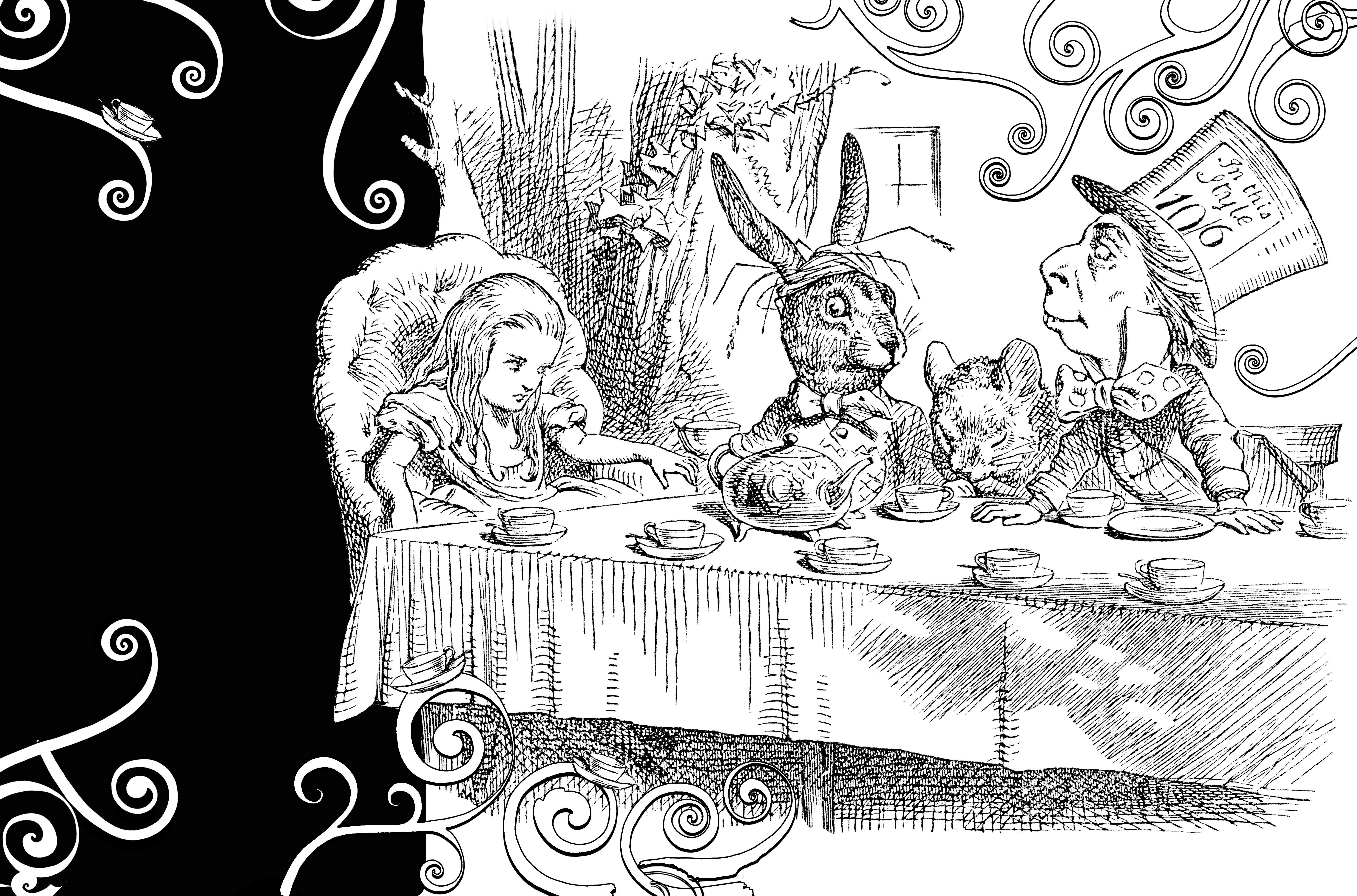 Großartig Alice Im Wunderland Malvorlagen Trippy Galerie - Beispiel ...